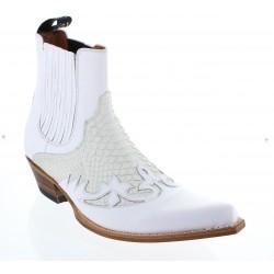 Santiag 9396 blanc (garduna blanco piton)